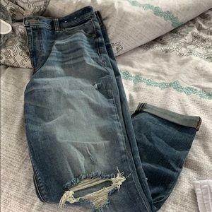 Express Girlfriend cuffed jeans